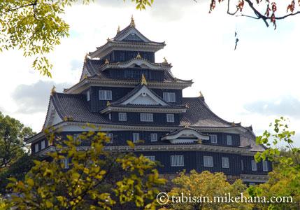 黒壁の岡山城