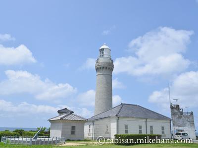 角島灯台で、波しぶきが・・・